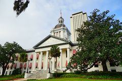 Florida State government. The Old and New Florida government building at Tallahassee, Florida, USA stock photography