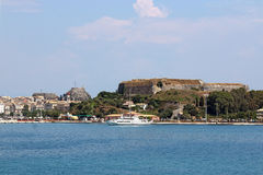 Old and new fortress Corfu town Royalty Free Stock Photo
