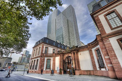 Old and New in Frankfurt, Germany Stock Photography