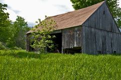 Old New Hampshire Barn. New England has numerous old barns which reflect earlier agricultural times, the grit and determination of our early farmers Stock Image
