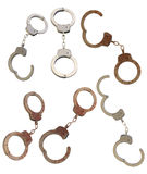 Old and new handcuffs Stock Photography