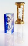 Old and new hour glass Royalty Free Stock Photography