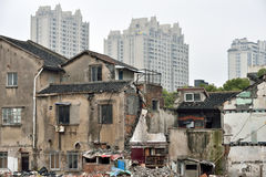 Old and new houses in Shanghai Royalty Free Stock Photography