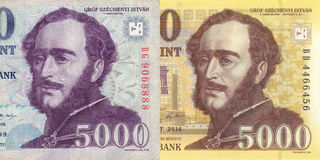 Old and new, hungarian forint Royalty Free Stock Photography