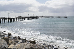 Old and New Jetties, Rapid Bay, South Australia Royalty Free Stock Photo