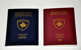 Old and new Kosovo passport Royalty Free Stock Images