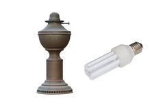 Old and new lamp Royalty Free Stock Photography
