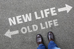 Old new life future past goals success decision change royalty free stock images