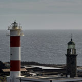 Old and new lighthouses La Palma Stock Photo