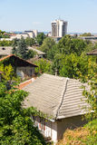 Old and new Lovech, Bulgaria stock image