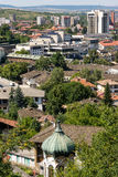 Old and new Lovech in Bulgaria royalty free stock photos