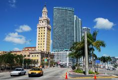 Old And New In Miami Royalty Free Stock Photography