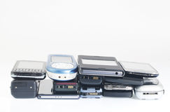 Old and new Mobile phones, smartphone. Old and new Mobile phones and smartphone Stock Images
