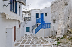 Old and new in Mykonos Royalty Free Stock Photos