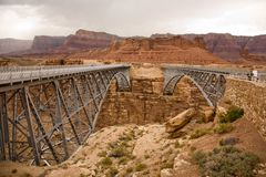Old and new Navajo Bridge Royalty Free Stock Photo