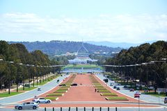 Old and New Parliament House in Canberra, Australia. Canberra is the capital of Australia, and the seat of government. The new Parliament House was built royalty free stock photos