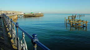 Old and new piers, Swanage, Dorset Stock Photos