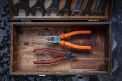 Old and new pliers Royalty Free Stock Photography