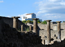 Old and New Pompeii Royalty Free Stock Images