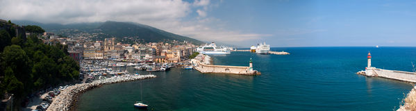 Old and new ports of Bastia Royalty Free Stock Image