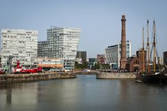 Pump House, Cunning Dock, Liverpool, UK royalty free stock photography