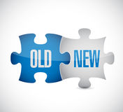 Old and new puzzle pieces concept illustration Royalty Free Stock Photo