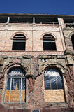 Old and new - reconstruction. Reconstruction work on an old building Royalty Free Stock Photography