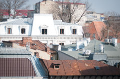 Old and new roofing Royalty Free Stock Images