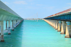Old and new seven mile bridge - 1 Stock Images
