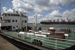 Old and new shipping Port of Southampton UK Royalty Free Stock Photos