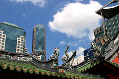 Old and New Singapore Royalty Free Stock Photography