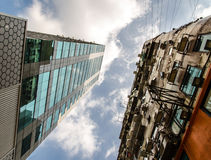 Old and new skyscraper Royalty Free Stock Image