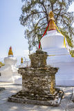 Old and new stupas Royalty Free Stock Image