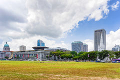 Old and New Supreme Court National Gallery and St Andrews. Singapore, Singapore - March 1, 2016: Old Supreme Court, New Supreme Court, National Gallery and St stock photography
