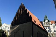 The Old New Synagogue (Czech: Staronová synagoga), Prague Stock Photos