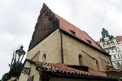 Old New Synagogue in Jewish quarter in Prague Stock Images