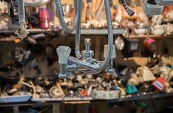 Old and new tools at flea market royalty free stock photos