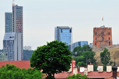 Old and new Vilnius Royalty Free Stock Image