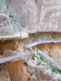 Old and new walkway in El Chorro National Park Stock Images