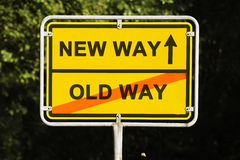 Old and new way Stock Photo