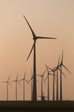 The Old and the New in wind turbine technology Stock Photography