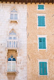 Old and New Window Shutters Stock Photography