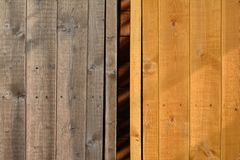 Old and new wood Royalty Free Stock Photos