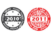 Old and new year seals Stock Photo