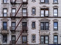 Free Old New York Apartment Building With External Fire Escapes, Royalty Free Stock Photo - 139667855
