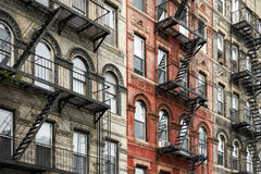 Old New York City Style Buildings in Manhattan Royalty Free Stock Photo