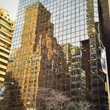 Old New York in the mirror Royalty Free Stock Image