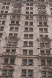 Old New York skyscraper. Old building with nice and ornate stonework on the facades.  New York city Royalty Free Stock Image