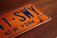 Old New York State license plate Stock Image