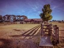 Old New Zealand ranch in vintage color toning Stock Photo